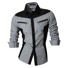 Spring Autumn Features Shirts Men Casual Jeans Shirt New Arrival Long Sleeve Casual Slim