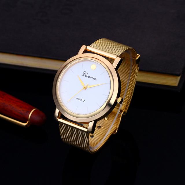 Geneva Fashion Gold Watch Women Watches Women Clock Full Steel Bracelet Watches Ladies Watch Hour relogio feminino reloj mujer