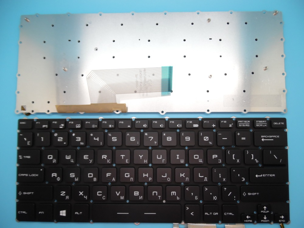 New notebook keyboard for MSI GS40 GS32 GS30 GS43VR 6QE-233RU 6RE-007RU RUSSIAN/SPANISH/Thailand/UK/US layoutNew notebook keyboard for MSI GS40 GS32 GS30 GS43VR 6QE-233RU 6RE-007RU RUSSIAN/SPANISH/Thailand/UK/US layout