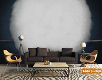 العرف الانطباعية الحديثة أبيض وأسود شريط الدخان ناحية اللوحة تلفزيون أريكة خلفية جدارية شجرة نوم غرفة المعيشة مطعم