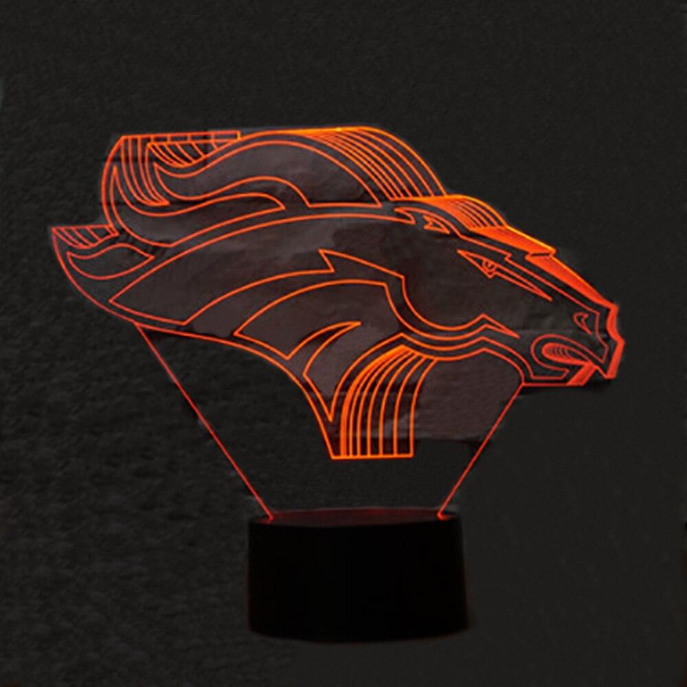 Weihnachten Geschenk Pferd Kopf 3D LED Schreibtisch Tisch Lampe RGB 7 Farbe Ändern Nacht Licht Room Home Decor Lustre Urlaub kinder Spielzeug Präsentieren