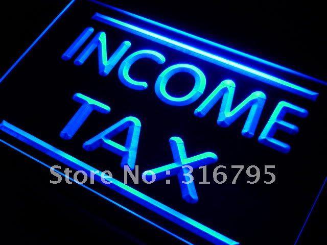 I430 impuesto sobre la renta servicios de neón LED luz signos/interruptor 20 + colores 5 tamaños