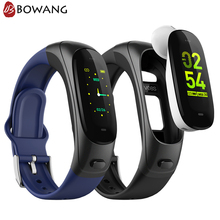 Bluetooth Headset Earphone Smart Bracelet 2 in 1 BOWANG V08S Fitness Tracker Smartband Pedometer Heart Rate Monitor with Mic W22