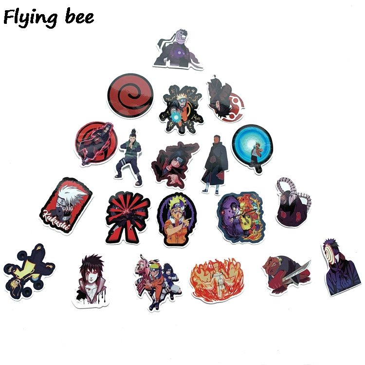 Image 4 - Flyingbee 70 Pcs Naruto Japanese anime Graffiti Stickers for Kids DIY Luggage Laptop Skateboard Car Waterproof Sticker X0214-in Stickers from Consumer Electronics