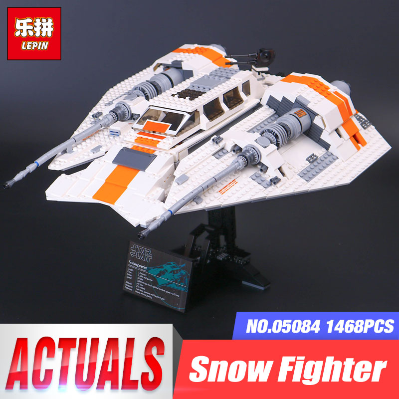 Lepin 05084 1457Pcs Star series UCS Wars Snowspeeder Model Building Kit Blocks Bricks Toys For Children Compatible legoing 10129 single sale star wars superhero orca shark series building blocks model bricks toys for children brinquedos menino