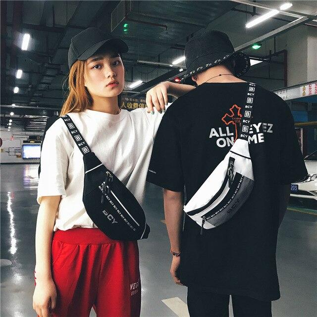 Marca maré Saco Da Cintura Das Mulheres dos homens Unisex Celular bag Bloco de Fanny Cinto Bolsa de Viagem No Peito Saco Hop Meninos Menina 2018 grande Promoção