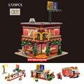 Vista de la calle caliente Ronald MacDonald Restaurante 4EN1 Ruedas en Comidas building block compatible legoe ciudad juguetes Para los niños