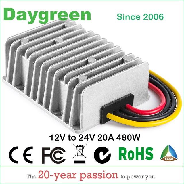 12 v ~ 24 v 20a 스텝 업 부스트 dc dc 레귤레이터 20 amp 500 watt daygreen 품질 제품 12vdc ~ 24vdc 20amp