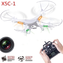 X5C 360 Degree Eversion RC Quadcopter Remote Control Aircraft 4 Channels 6 Axis Gyro Drone with HD 2.0MP Camera Led Light White