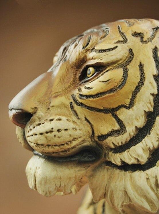 Tigre ornements résine artisanat imitation bois sculptures home décorations souvenirs (A906)