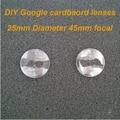 Wholesale 20pcs/lot Google Cardboard lenses 25mm 3D Biconvex Lens 45mm Focal Lens VR Lens