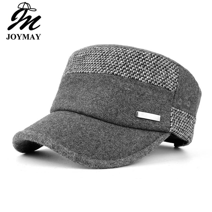 Kopfbedeckungen Für Herren Gelernt Joymay Neue Winter Unisex Einstellbar Flach Cap Militärische Hüte Mode Freizeit Casual Westlichen Stil Hysteresenhut P008
