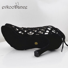 цены Evkoodance Zapatos De Baile Professiona Black Lady Dancing Shoes High Heel Salsa Latin Ballroom Dance Shoes For Women Evkoo-551