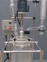 Condensor SF-30LEX Pilot ile bitki Cam Reaktör, reflü flask, cam Reaksiyon Kabı/Vakum sistemi lab/Petrol/Chem