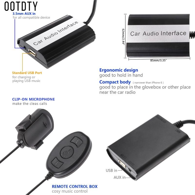 Handsfree Car Bluetooth Kits MP3 Music AUX Adapter Car Audio Interface CD Sound For Volvo HU-series C70 S40/60/80 V40 V70 XC70