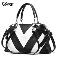 ZMQN Women Bags High Capacity Leather Handbags Mature Female Over Shoulder Bags For Womens Famous Brands