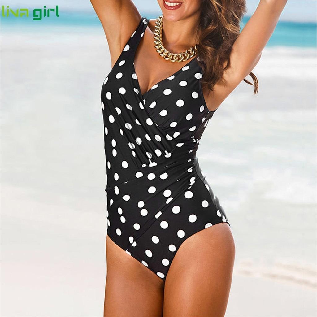 Liva girl Sexy Black One-Piece Suits new 2019 Push-Up Padded Brazilian Swimsuit hot Set Beach Monokini Bathing Swimwear Bikini 3