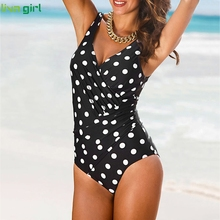 Liva girl Sexy Black One-Piece Suits new 2019 Push-Up Padded Brazilian Swimsuit hot Set Beach Monokini Bathing Swimwear Bikini
