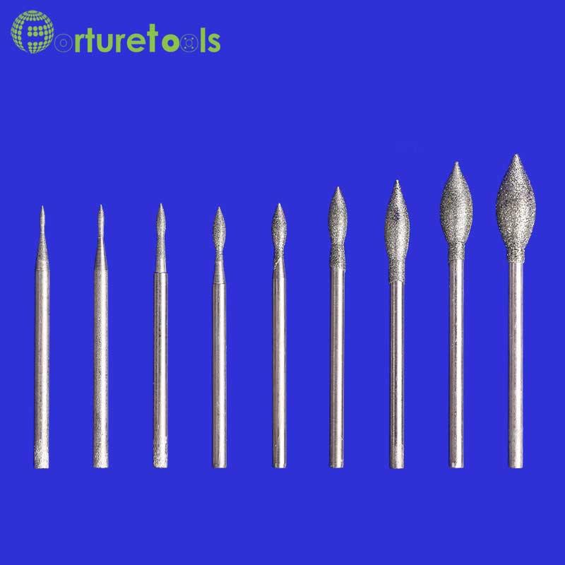 50ks diamantový hrot kámen pro broušení jade pin nástroje - Brusné nástroje - Fotografie 2