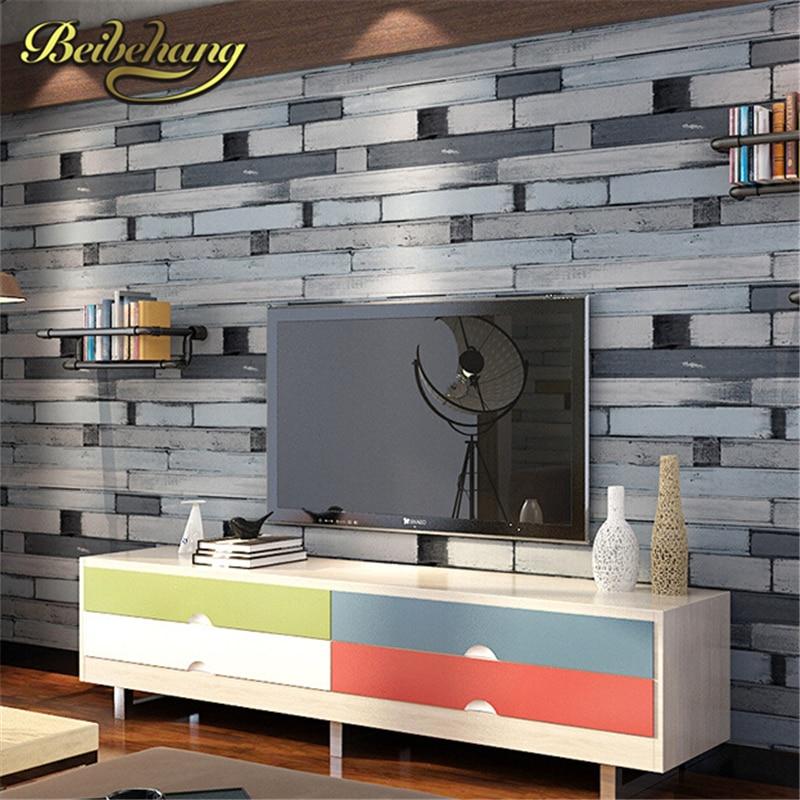Beibehang 3d Tapete Pvc Wand Papier Holz Ziegel Stein Designs Wand