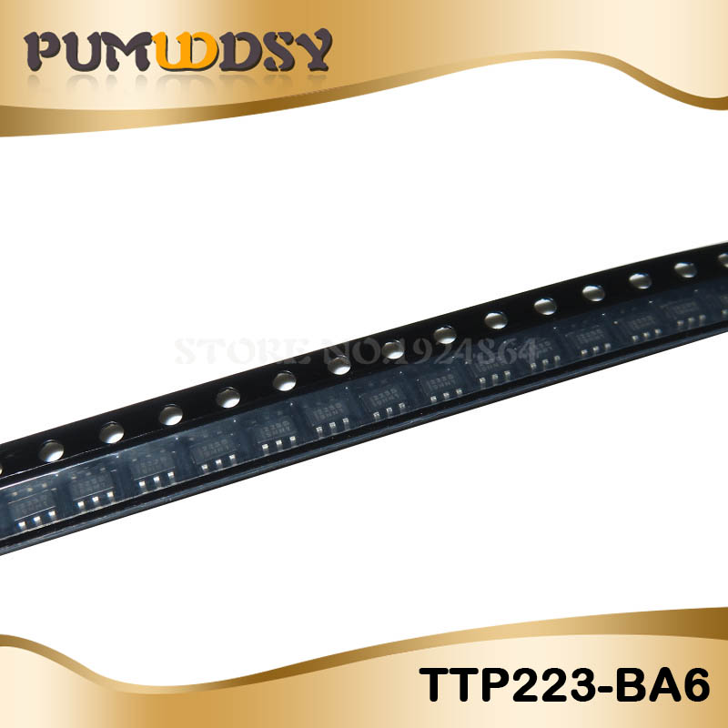 10PCS TTP223-BA6 TTP223 223B 223 BA6 IC/ Single Touch Touch Detection IC SOT-23-6