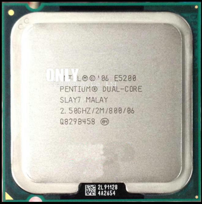 Intel BX80571E5200 SLAY7 Pentium E5200 2.5GHz 800MHz 2M New Retail Box