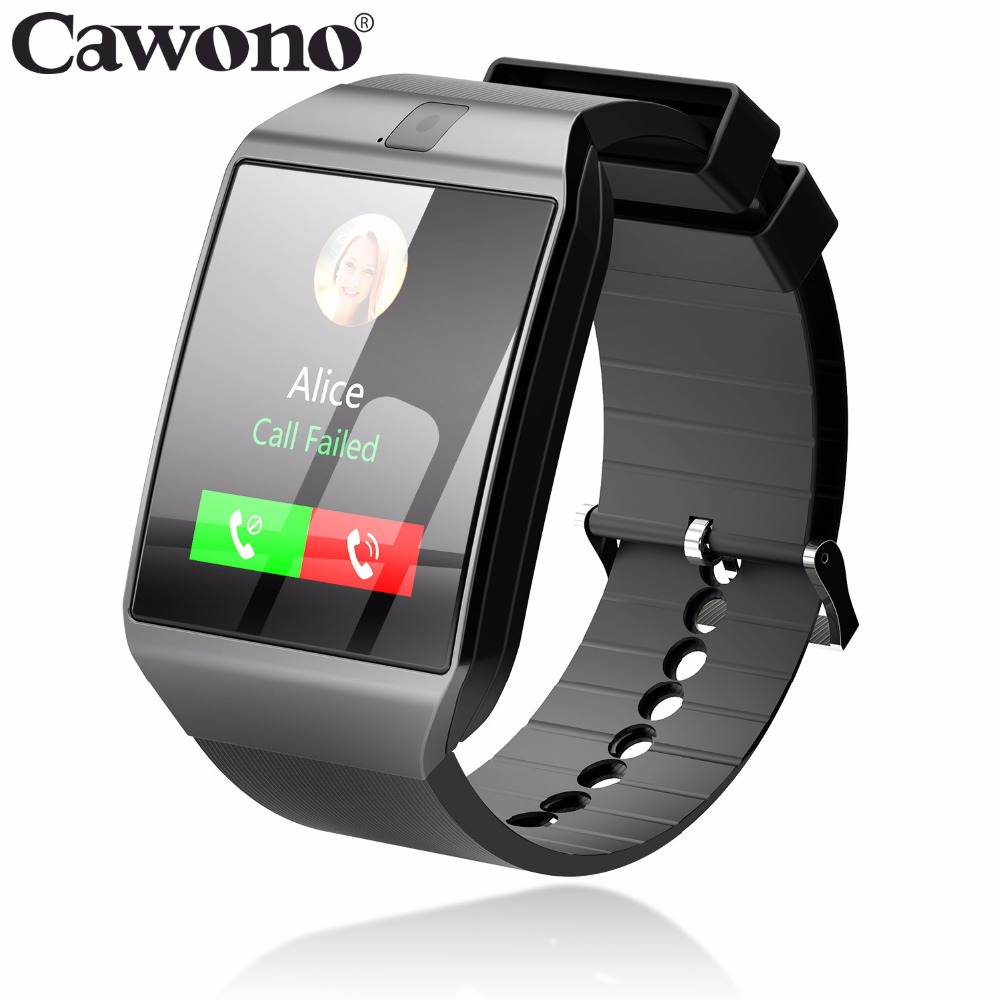 Cawono Bluetooth G12 Smart Watch with Camera Smartwatch TF SIM Card for iPhone Samsung HTC LG HUAWEI Android Phones PK DZ09 A1 цена 2017