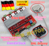 DE Ship Free Shipping Free VAT 4 Axis CNC TB6560 Stepper Motor Driver Controller Board V