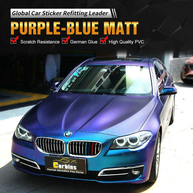 Top trend! Magic Diamond Chameleon Purple to Blue Vinyl Car Wrap for Full Body Styling