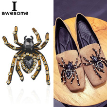 1pcs Spider Wedding Party Shoes Accessories High Heels DIY Crystal Rhinestone Sandals Shoe Decorations Flat flower
