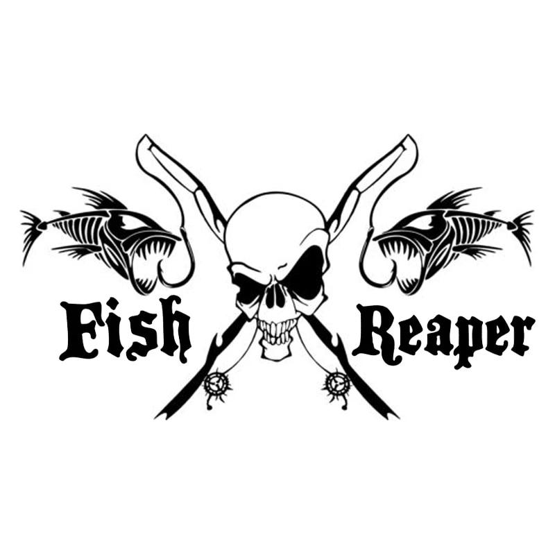 Reflektierende Schädel Fisch Skelett Aufkleber Aufkleber Paster für