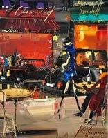 Handgeschilderde abstract stad olieverfschilderij de national gallery london nieuwe door gajoum kal mes moderne schilderen home decor