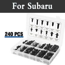 240pcs Plastic Car Retainers Trim Mud Guard Trim Push Car Rivets For Subaru Alcyone Brz Dex