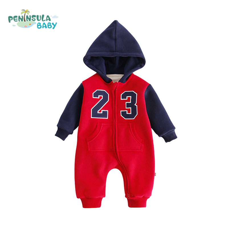 03c703949 Buy Baby Clothing Winter Warm Hooded Rompers Long Sleeves Infant ...