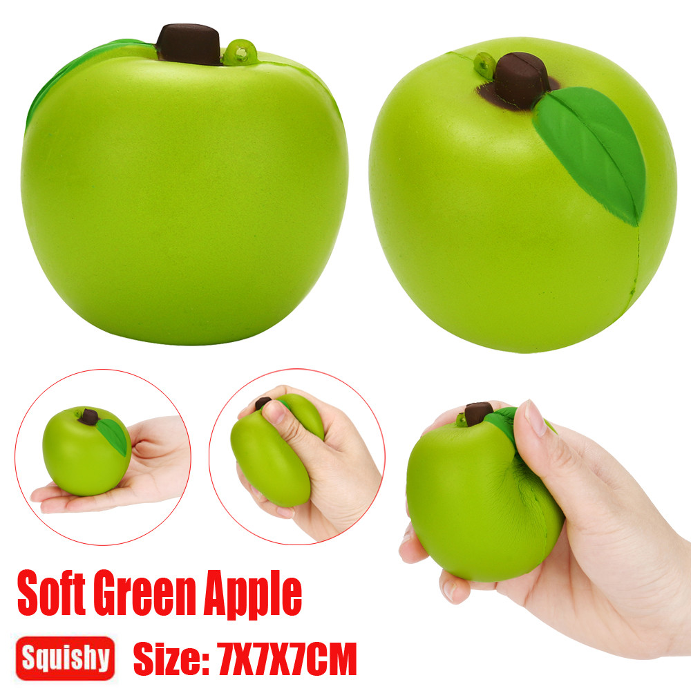 Muqgew Soft Squishy Squishi Apple Funny Toy Green apple Squeeze Stress Alternative Humorous Light Hearted Decompression Toys