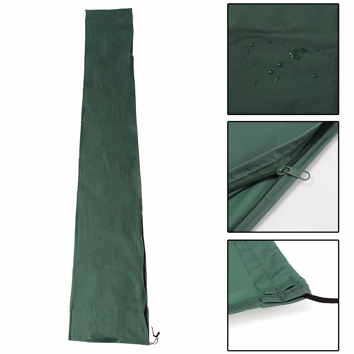 New Polyethylene Garden Patio Parasol Umbrella Cover Bag Green Fit 7ft Umbrella +Draw String Neck 190x96cm