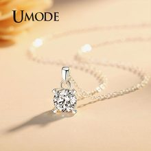 UMODE Brands Zirconia Necklace Pendants Long Best Friends Gifts for Women Korean Fashion Kids Jewelry sautoir femme UN0309(China)