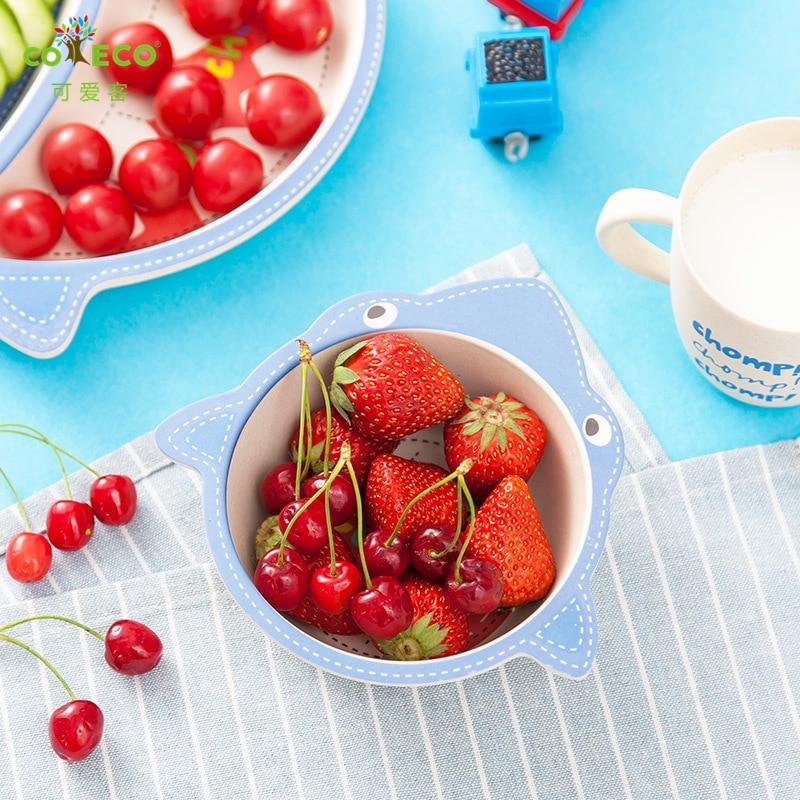 Niedrogi Cartoon pod-grid talerz zastawa stołowa dziecko naczynia - Karmienie - Zdjęcie 4