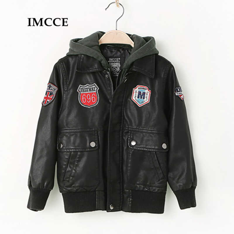 Winter Thick Leather Jacket for Boys, Kids Leather Jacket,Advanced PU Imitation Leather Coat,Trim Fit Style clothing (3-12Yrs) advanced style