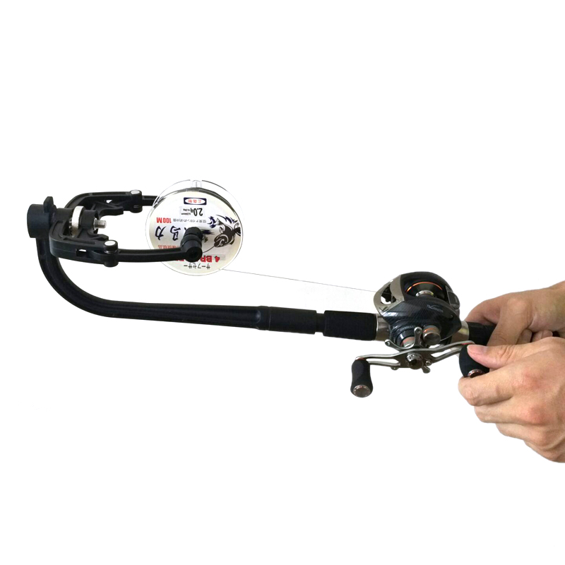 Line winding system spinning fishing reel line winder spooler for Fishing reel line winder
