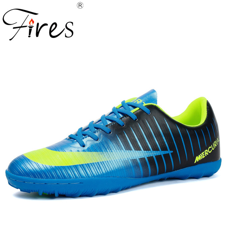 94f3344b9 Fires Men Soccer Shoes Artificial Leather Football Shoes Comfortable  Lightweight Trainning Sneakers Man Outdoor Lawn Sport