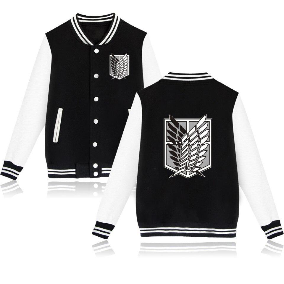 2019 attaque sur Titan anime Baseball veste streetwear manteau survêtement décontracté hommes manteaux et vestes grande taille garçons vêtements