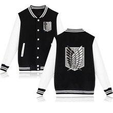 2020 Aanval Op Titan Anime Baseball Jacket Streetwear Coat Casual Trackusuit Heren Jassen En Jacks Plus Size Jongens Kleding