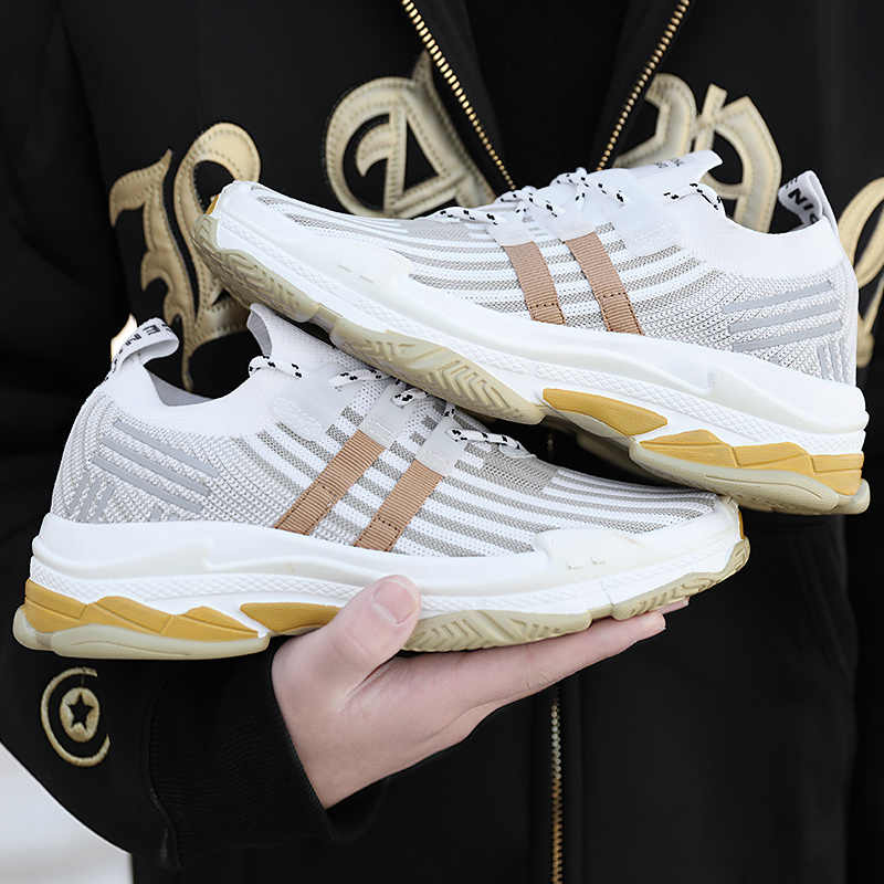 8e5267ea58cf ... Men Sneaker Sport Air Running Knitted Zoom Weaving Outdoor Flywire  Shoes Fly Flex RN Socks Utility ...