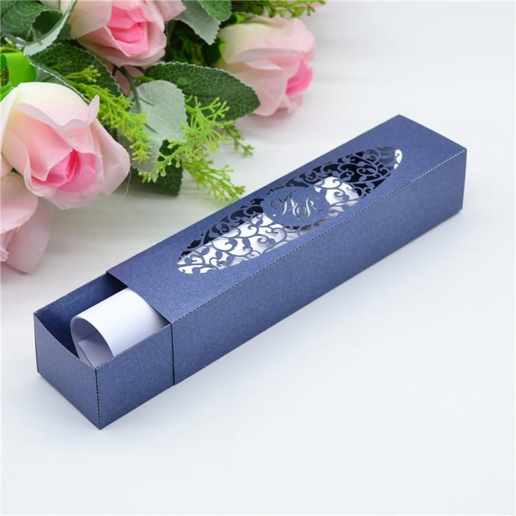 Exquisite Laser Cut Personalized Wedding Invitation Boxes