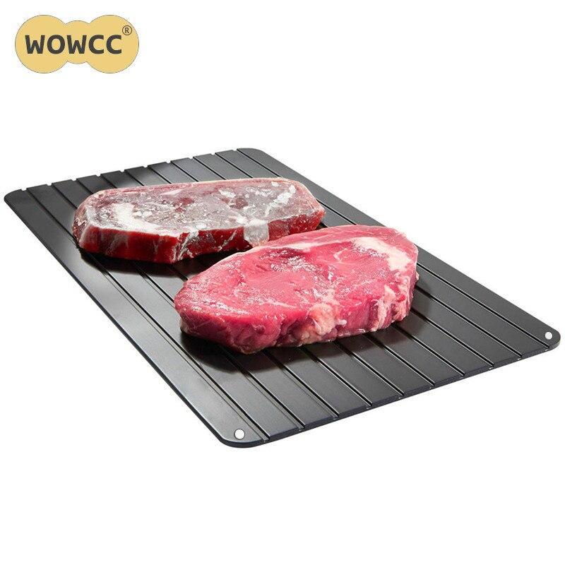 WOWCC Hohe Qualität Aluminiumlegierung Schnell Abtauwanne Abtauung Fleisch Oder Tiefkühlkost Schnell Ohne Strom Mikrowelle