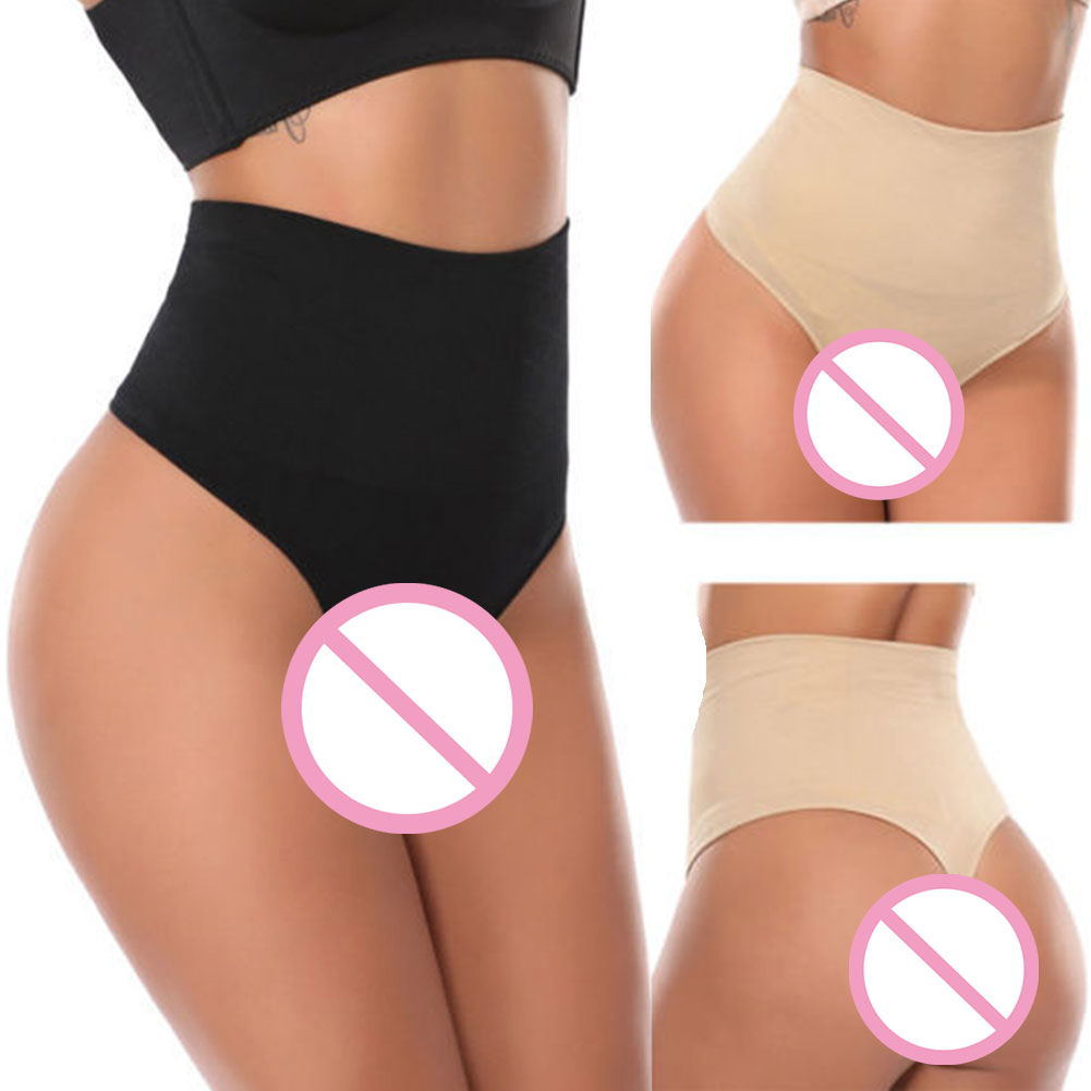 Breathable Slimming Soft Elastic Seamless Butt Lifter Comfortable Thongs Daily Panties Tummy Control Women Underwear Body Shaper