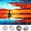 Sailboat Sea Diy Oil Painting Drawing Frameless Picture On Wall Acrylic Painting By Numbers On The