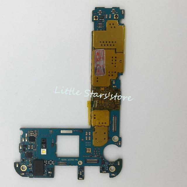 100% original para samsung galaxy s6 edge g925f motherboard 32g desbloqueado g925f principal placa lógica de trabalho