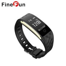 FineFun Bluetooth Умный Браслет Браслет Heart Rate Monitor IP67 Водонепроницаемый Smartband Браслет Для Android IOS Телефон # A1616